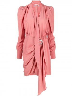 Платье с длинными рукавами и драпировкой LANVIN. Цвет: розовый