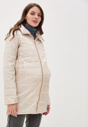 Куртка утепленная I Love Mum Мокко. Цвет: бежевый