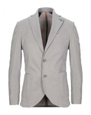 Пиджак GABARDINE. Цвет: серый