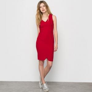 Платье офисное без рукавов R édition. Цвет: вишневый,черный