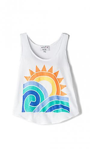 Майка sun and surf Wildfox Couture. Цвет: белый