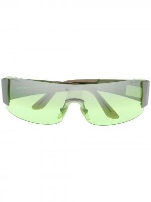 Солнцезащитные очки 2000-х годов Salvatore Ferragamo Pre-Owned. Цвет: зеленый