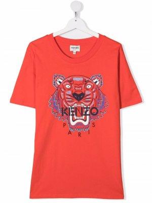 Logo-print T-shirt Kenzo Kids. Цвет: красный
