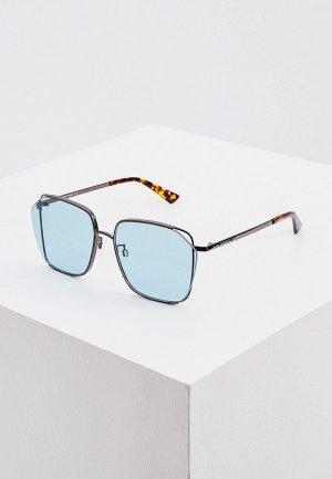 Очки солнцезащитные McQ Alexander McQueen MQ0287SA. Цвет: бирюзовый
