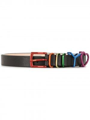 Rainbow buckle belt Y/Project. Цвет: черный