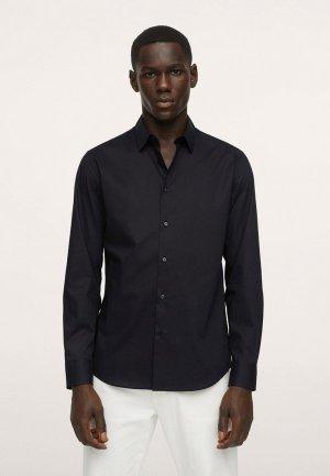 Рубашка Mango Man PLAY. Цвет: черный