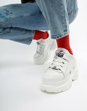Белые кроссовки на толстой подошве Classic-Белый Buffalo