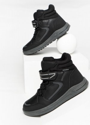 Ботинки для мальчиков O`Stin. Цвет: черный