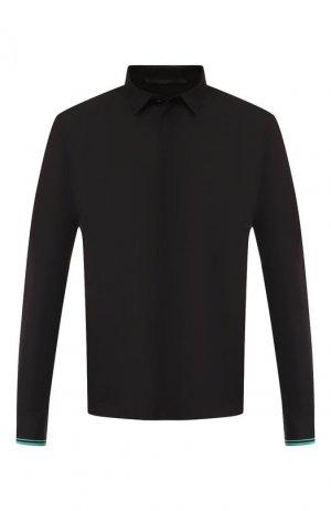 Хлопковая рубашка Haider Ackermann. Цвет: чёрный