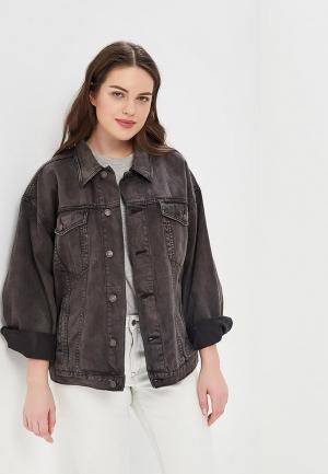 Куртка джинсовая Free People FR045EWAQPZ1. Цвет: серый