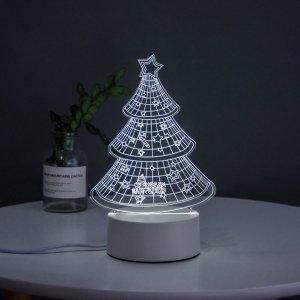 Ночник в форме рождественской елки SHEIN. Цвет: многоцветный