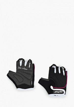 Перчатки для фитнеса Starfit. Цвет: черный