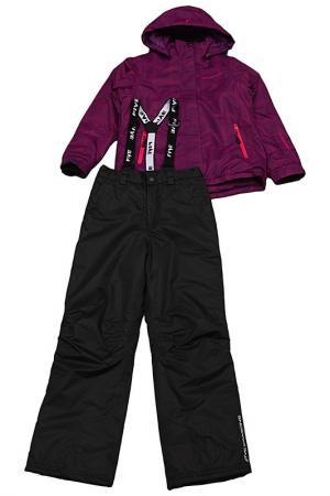 Горнолыжный костюм ANYA Five seasons. Цвет: фиолетовый принт