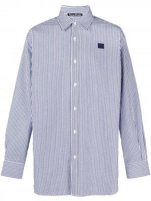 Полосатая рубашка оверсайз с длинными рукавами Acne Studios. Цвет: синий