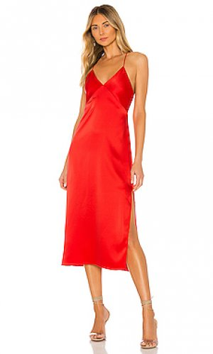 Платье миди loraine Alice + Olivia. Цвет: красный