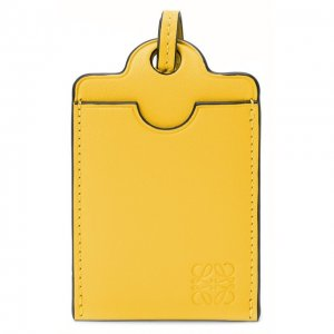 Кожаный футляр для кредитных карт Loewe. Цвет: жёлтый