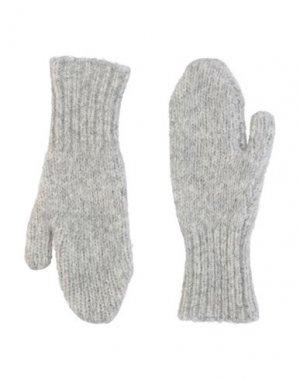 Перчатки ACNE STUDIOS. Цвет: светло-серый