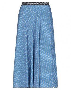 Длинная юбка LA FABRIQUE. Цвет: лазурный