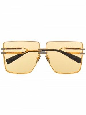 Солнцезащитные очки Gendarme Balmain Eyewear. Цвет: золотистый