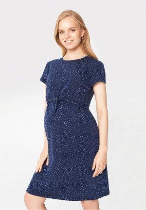 Платье домашнее BuduMamoy. Цвет: синий