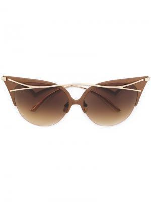 Солнцезащитные очки Twiggy Frency & Mercury. Цвет: коричневый