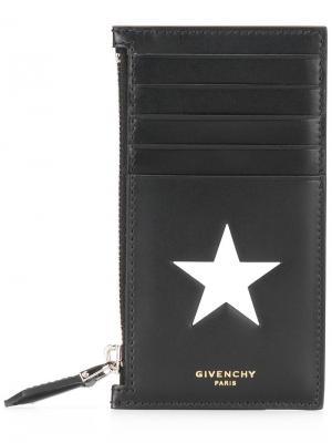 Визитница с отделением на молнии Givenchy. Цвет: черный