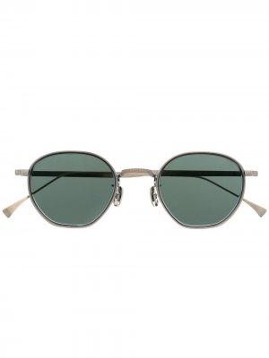 Солнцезащитные очки в круглой оправе Eyevan7285. Цвет: серебристый