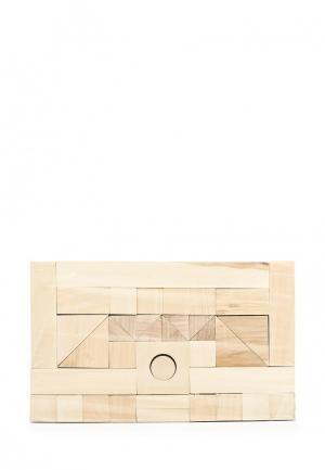 Конструктор Paremo Деревянный. Неокрашенный. 85 деталей. В деревянном ящике.. Цвет: разноцветный