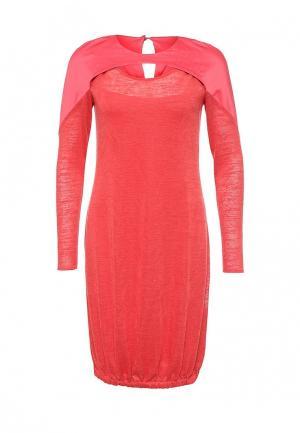Платье D.VA DV003EWMHX58. Цвет: коралловый