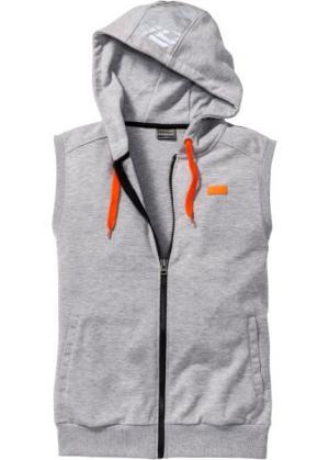 Функциональный трикотажный жилет Slim Fit (светло-серый меланж) bonprix. Цвет: светло-серый меланж