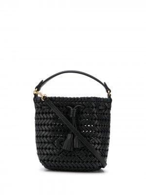 Плетеная сумка-тоут Anya Hindmarch. Цвет: черный