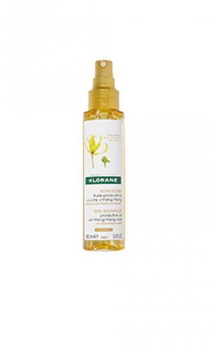 Масло для волос protective oil with ylang-ylang Klorane. Цвет: beauty: na