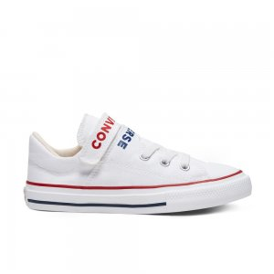 Chuck Taylor All Star Double Strap Kids Low Top Converse. Цвет: белый