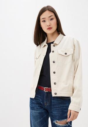 Куртка джинсовая One Teaspoon. Цвет: бежевый