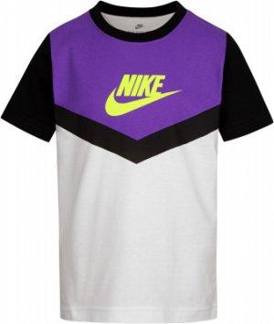 Футболка для мальчиков Futura, размер 110 Nike. Цвет: белый