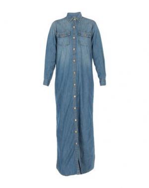 Длинное платье CURRENT/ELLIOTT. Цвет: синий