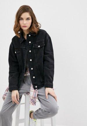 Куртка джинсовая Trendyol. Цвет: черный