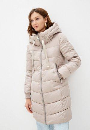 Куртка утепленная Снежная Королева. Цвет: бежевый