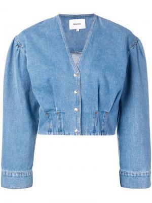 Джинсовая куртка Eliana Nanushka. Цвет: синий