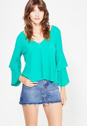 Блуза Topshop. Цвет: бирюзовый
