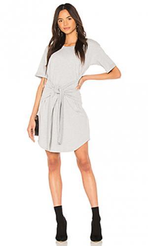 Платье-майка tie front MINKPINK. Цвет: серый
