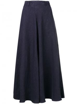 Расклешенная юбка с завышенной талией Aspesi. Цвет: синий