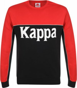 Свитшот мужской , размер 52 Kappa. Цвет: черный