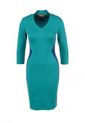 Платье Анна Чапман. Цвет: бирюзовый