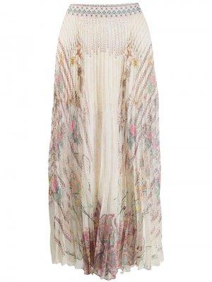 Плиссированная юбка макси Camilla