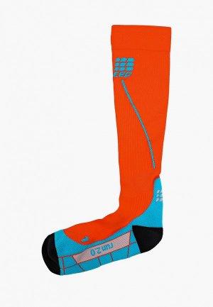 Компрессионные гольфы CEP Compression knee socks. Цвет: оранжевый