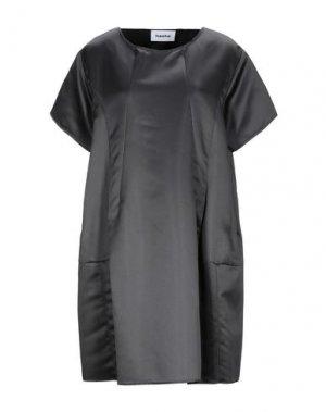 Короткое платье HACHE. Цвет: свинцово-серый