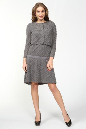 Комплект: платье, жакет Ermanno Scervino. Цвет: серый
