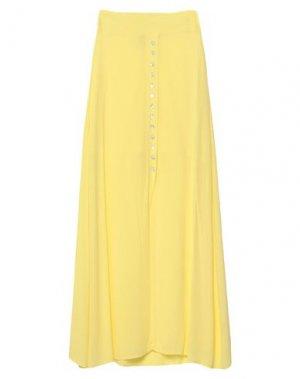 Длинная юбка SOALLURE. Цвет: желтый