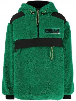 Куртка Marlee из шерпы с капюшоном Stella McCartney. Цвет: зеленый